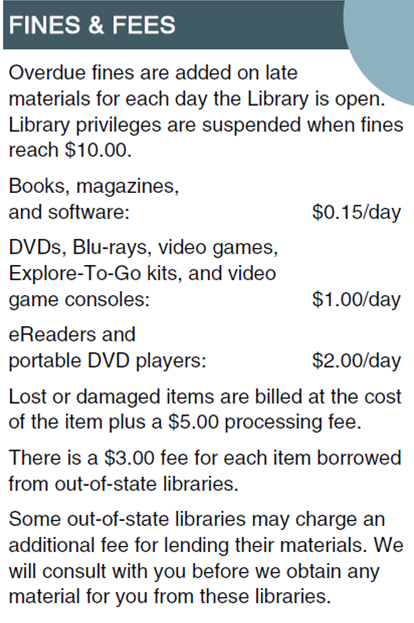 fines fees brochure